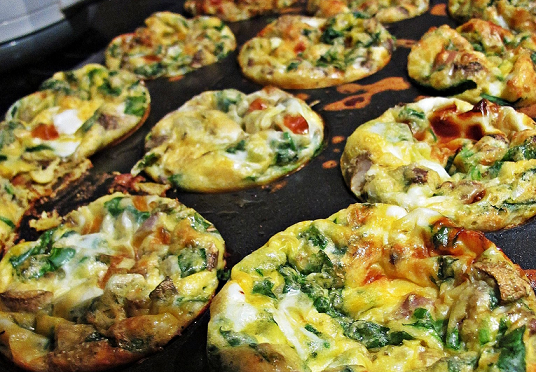 Rosemary Mini Egg Frittatas Spinach, Salmon and more