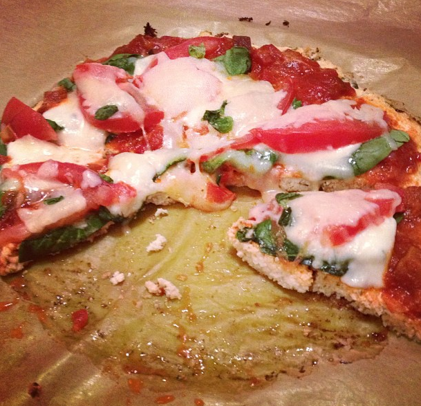 Healthy, Delicious, Gluten-Free Pizza with a rustic Cauliflower Crust!