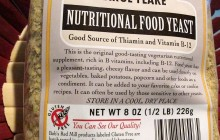 The Nutritional Yeast purchased from the Organics Supermarket in Dubai (38Dhs for 260gm)