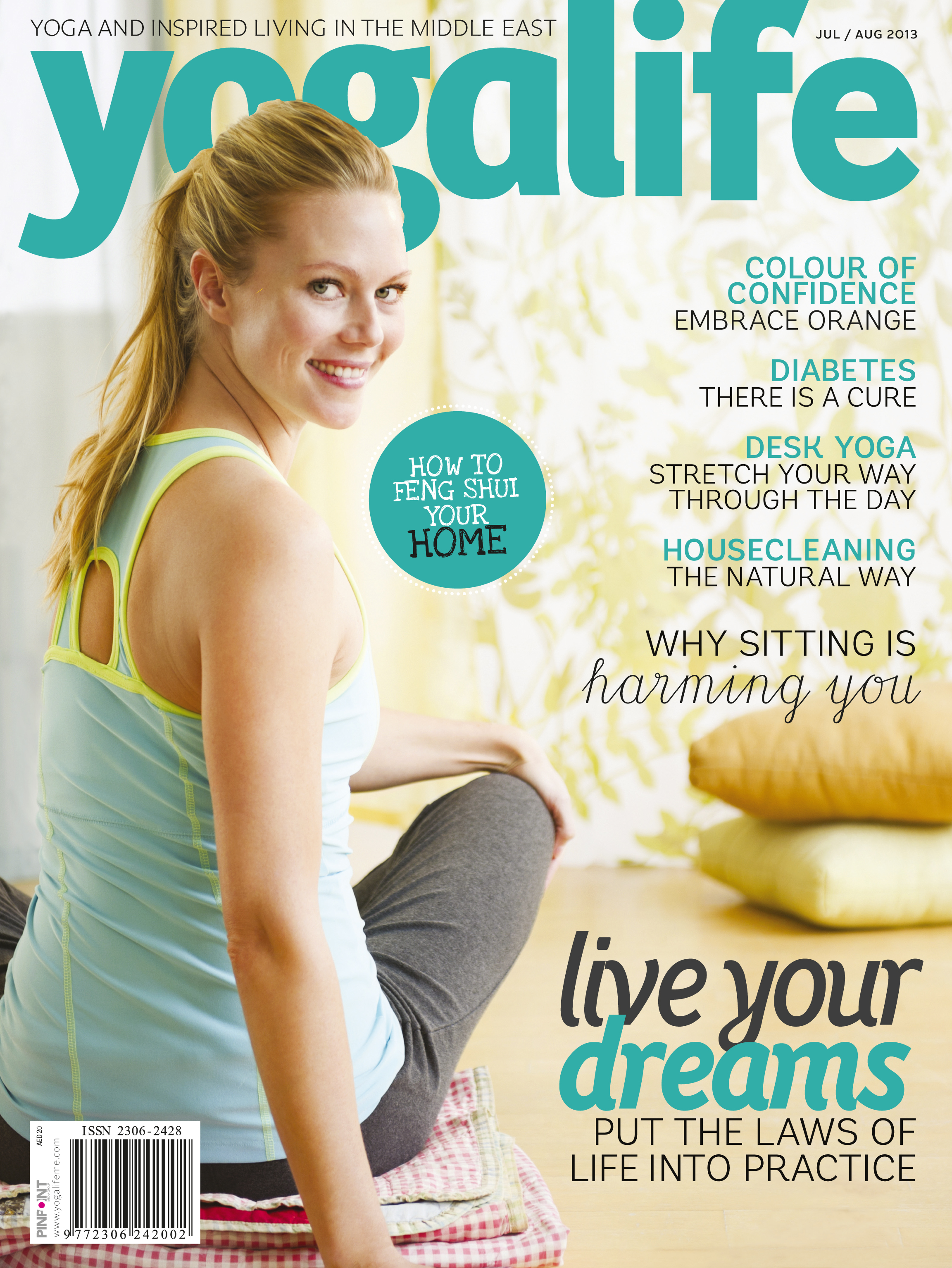 Yogalife Magazine: https://www.facebook.com/pages/YogaLife-Middle-East/107025599457985