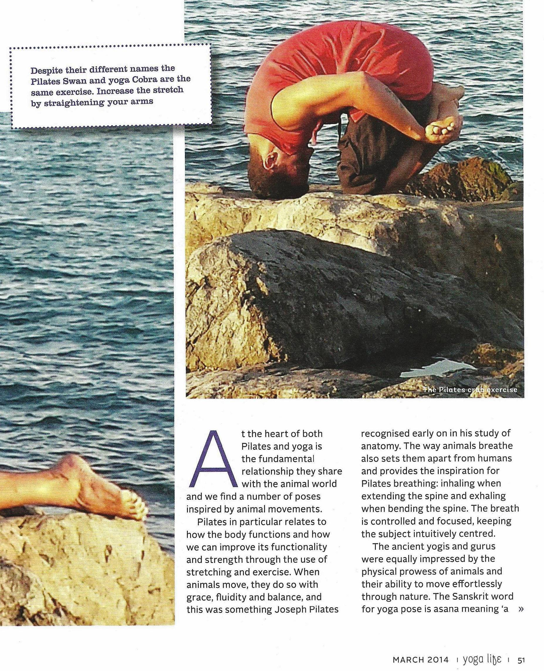 YOGALIFE ME MAGAZINE, MARCH 2014 , PG2