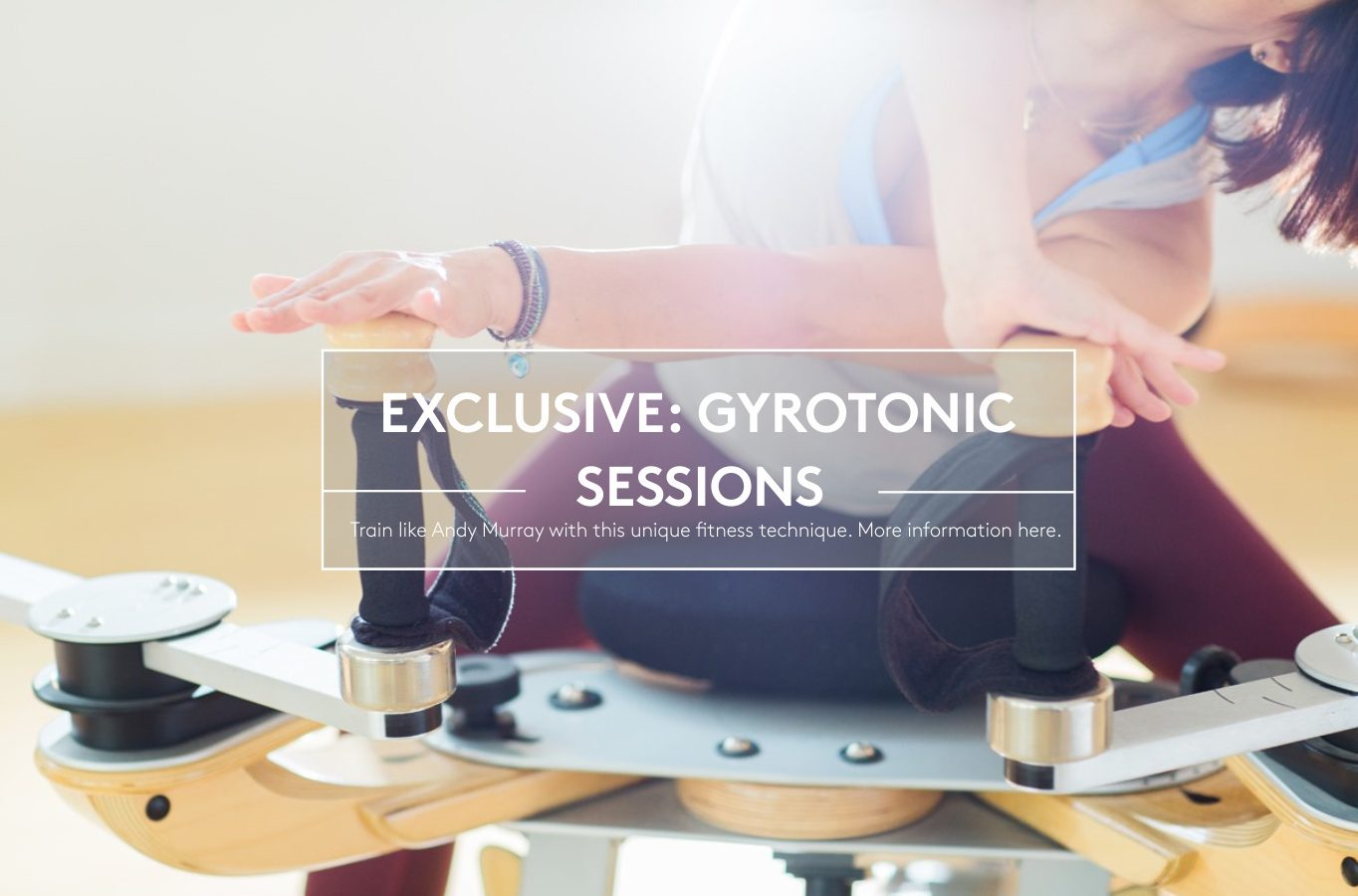Gyrotonic Sessions at The Hundred Wellness Centre