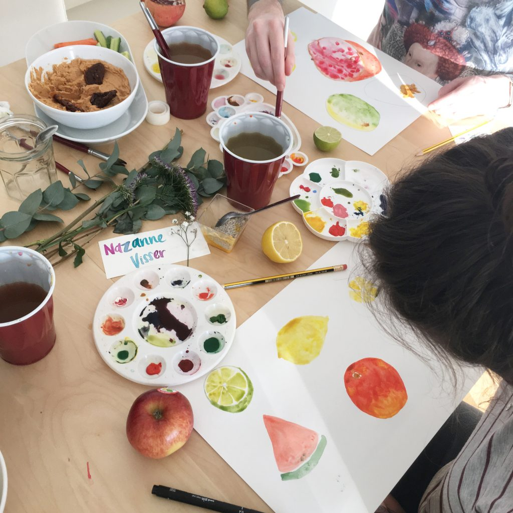 child art paint workshop